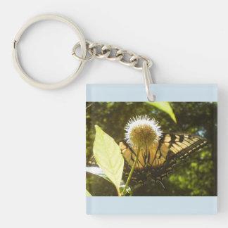 Yellow Monarch  Acrylic Keychain