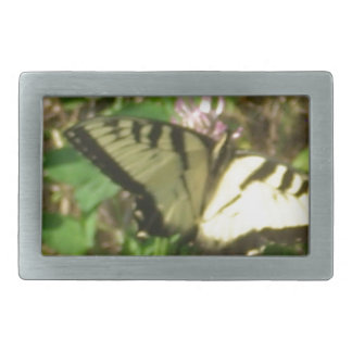Yellow Monarch butterfly picture up close Rectangular Belt Buckle