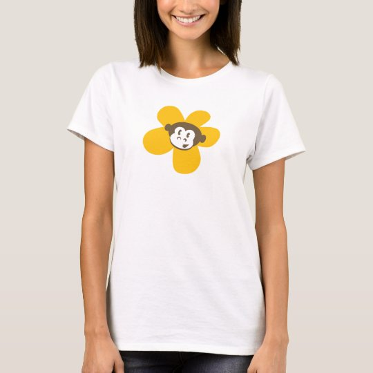 Yellow Monkey Flower with back design T-Shirt