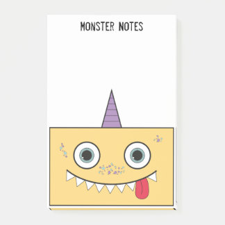 Yellow Monster Post-it Notes