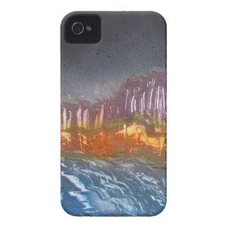 Yellow moon over metamorphic landscape Case-Mate iPhone 4 cases