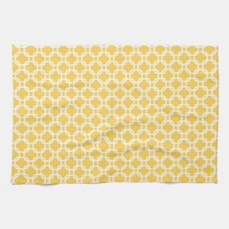 Yellow Moroccan Geometric Design Kitchen Towel
