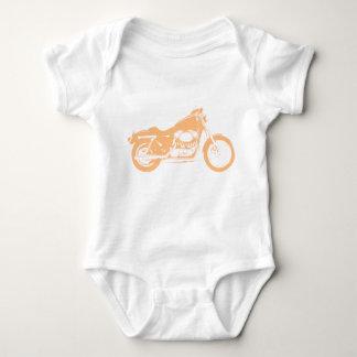 Yellow Motorcycle Baby Bodysuit