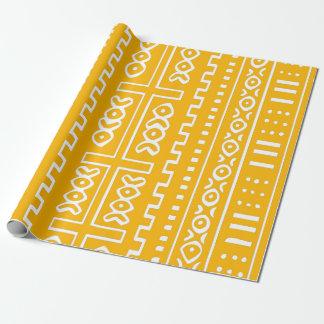 Yellow Mud Cloth Pattern