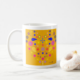 Yellow mug Ethnic Heart half