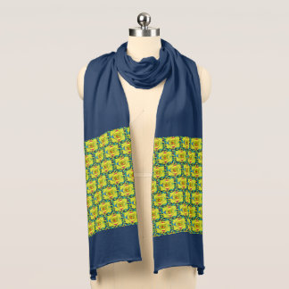 Yellow Multi-Color Jersey Scarf