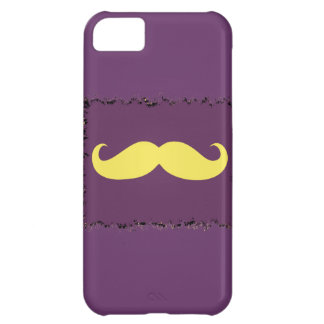 Yellow Mustache on purple Case For iPhone 5C