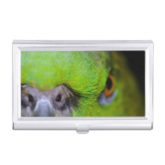 Yellow-Naped Amazon Parrot by Shirley Taylor Business Card Holder