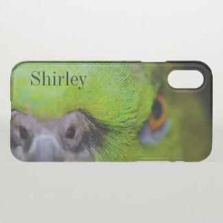 Yellow-Naped Amazon Parrot by Shirley Taylor iPhone X Case