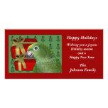 Yellow Naped Amazon Parrot Christmas Holiday Card Photo Card