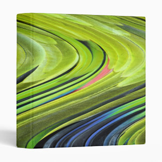 Yellow-Naped Amazon Parrot Feathers by STaylor Vinyl Binder