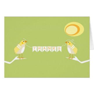 Yellow Nature Themed Modern Bird Thank You Card