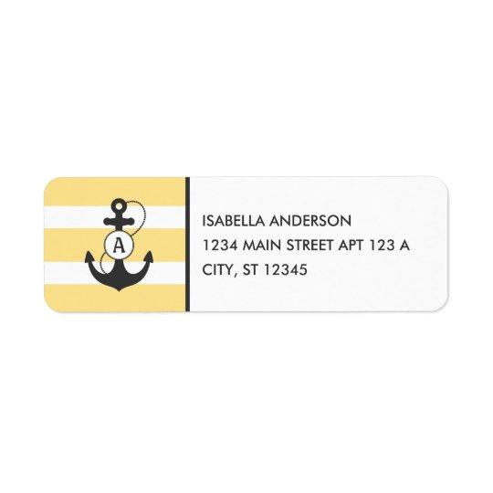 Yellow Nautical Anchor Monogram