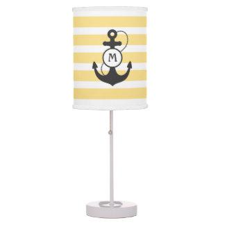 Yellow Nautical Anchor Table Lamp
