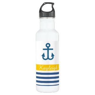 Yellow Navy Nautical Theme 710 Ml Water Bottle