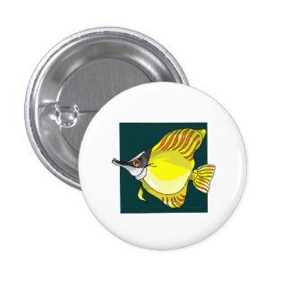 Yellow Needlenose Fish Pinback Button