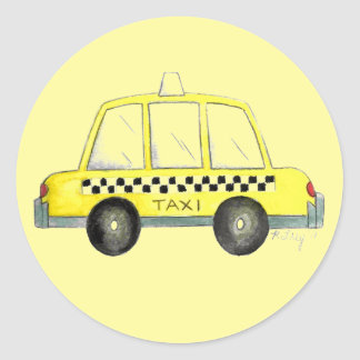 Yellow New York City NYC Taxi Cab Cabbie Stickers