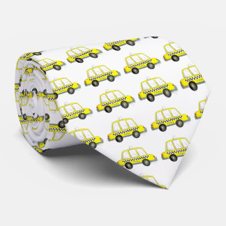 Yellow NYC Checkered Taxi Cab New York City Tie
