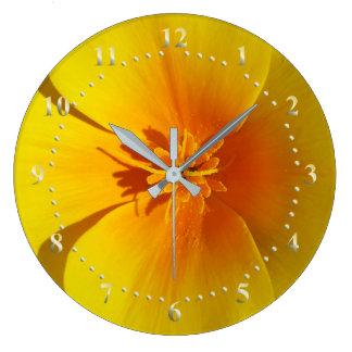 yellow of autumn large clock