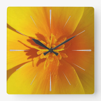 yellow of autumn square wall clock