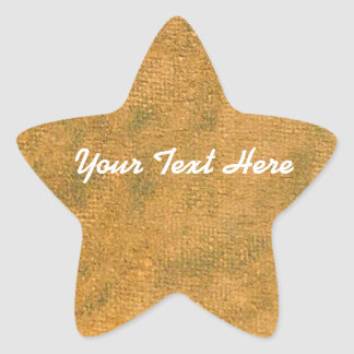 Yellow Oil Pastel Star Sticker | Customize