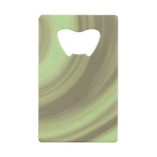 Yellow Olive Green Swirl Credit Card Bottle Opener