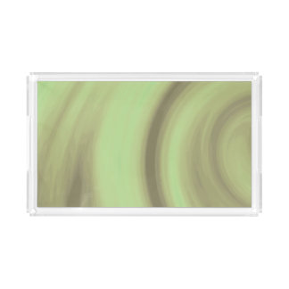 Yellow Olive Green Swirl Perfume Tray