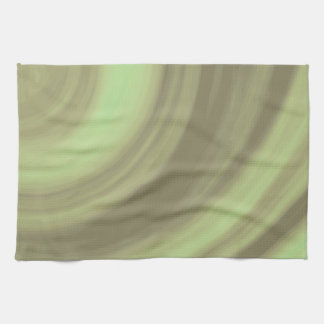 Yellow Olive Green Swirl Towel