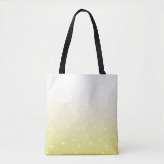 Yellow Ombre Stars Tote Bag