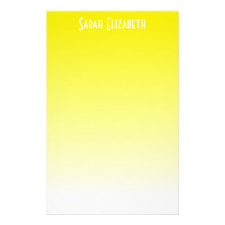 Yellow Ombre Stationery