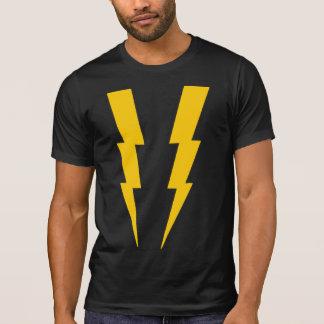 Yellow on Black Lightning Superhero Tee