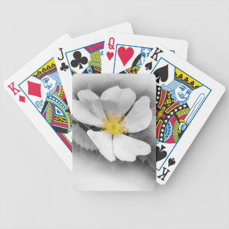 yellow on shades of gray bicycle playing cards