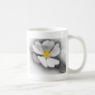 yellow on shades of gray coffee mug