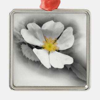 yellow on shades of gray metal ornament