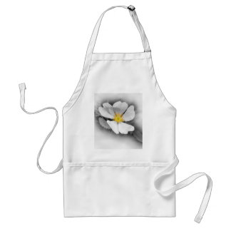 yellow on shades of gray standard apron