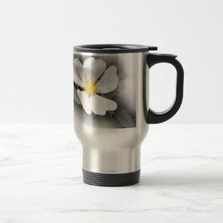 yellow on shades of gray travel mug