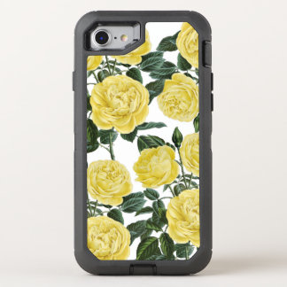 Yellow On White OtterBox Defender iPhone 7 Case