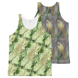 YELLOW ONE and GREEN TWO All-Over-Print Tank Top