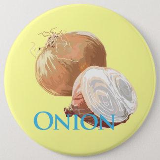 Yellow Onion 6 Inch Round Button