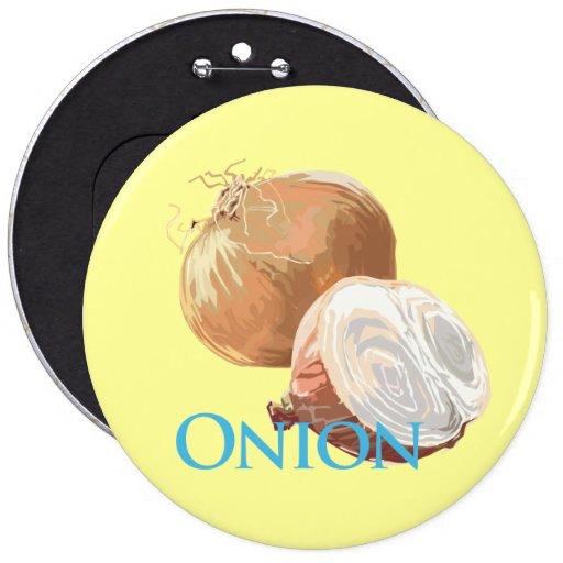Yellow Onion Pinback Buttons