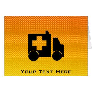 Yellow Orange Ambulance Greeting Card