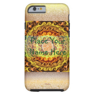 Yellow Orange and Brown kaleidoscope Case
