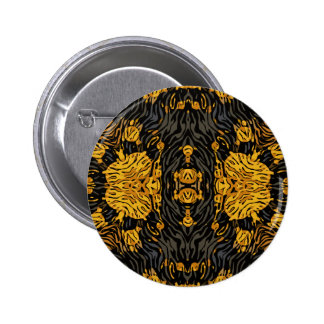 Yellow Orange Animal Print 2 Inch Round Button