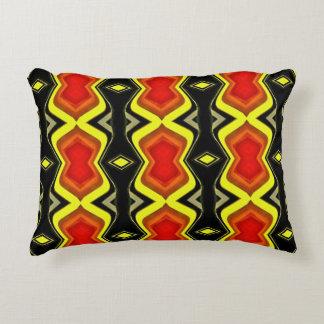 Yellow Orange Black Hip Modern Pattern Decorative Pillow