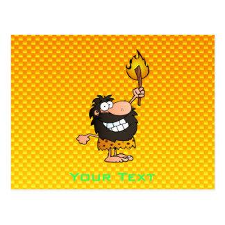 Yellow Orange Caveman Postcards