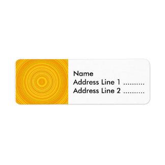 Yellow & Orange Circle/Ring Pattern Return Address Label