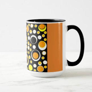 yellow/orange circles mug