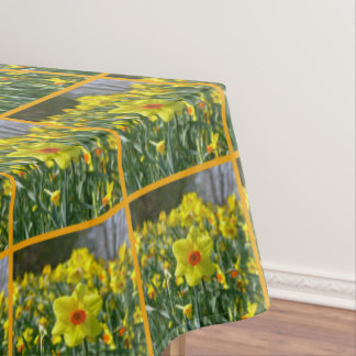 Yellow orange Daffodils 01.0.2. O Tablecloth