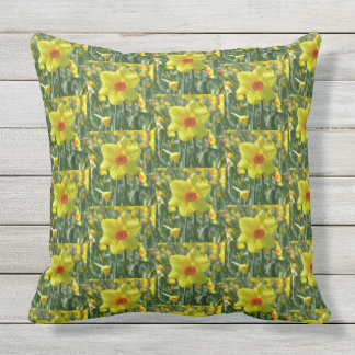 Yellow orange Daffodils 01.0.3.p Throw Pillow