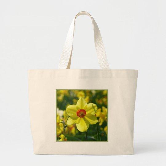 Yellow orange Daffodils 02.1g Large Tote Bag